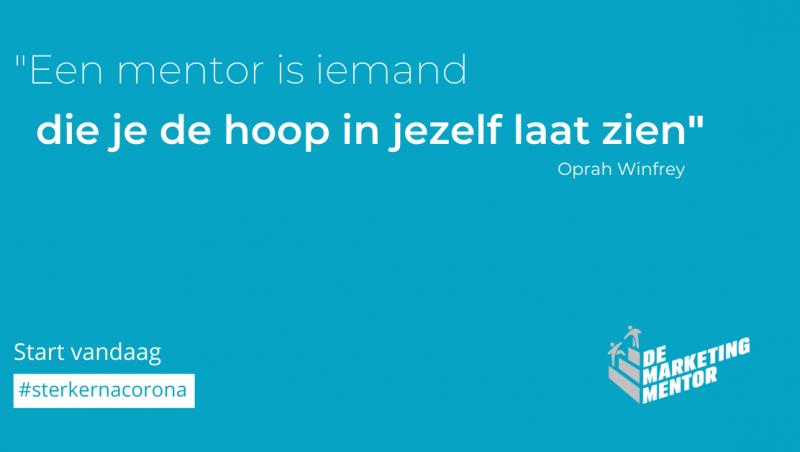 Een mentor is iemand...