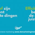 Effectiviteit vs efficiëntie