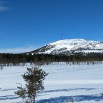 Lapland, Pyhätunturi, on a beautiful day in March